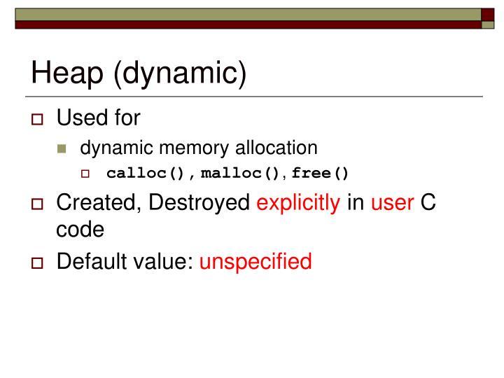 Heap (dynamic)