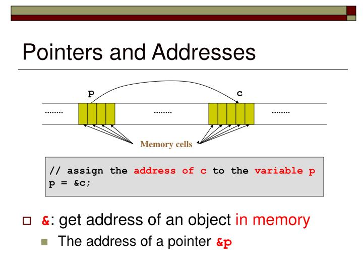 Pointers and addresses1