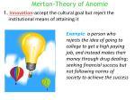 merton theory of anomie