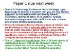 paper 1 due next week1