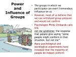 power and influence of groups