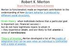 robert k merton strain theory and theory of anomie