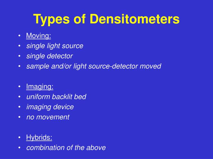 Types of Densitometers