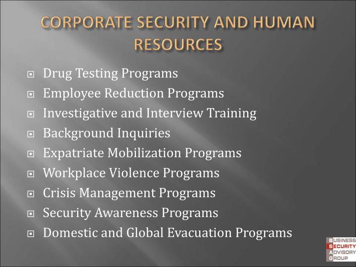 Drug Testing Programs