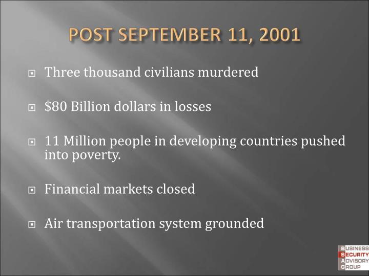 Three thousand civilians murdered