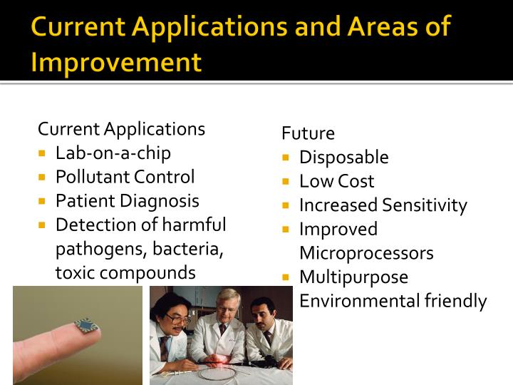 Current Applications and Areas of Improvement