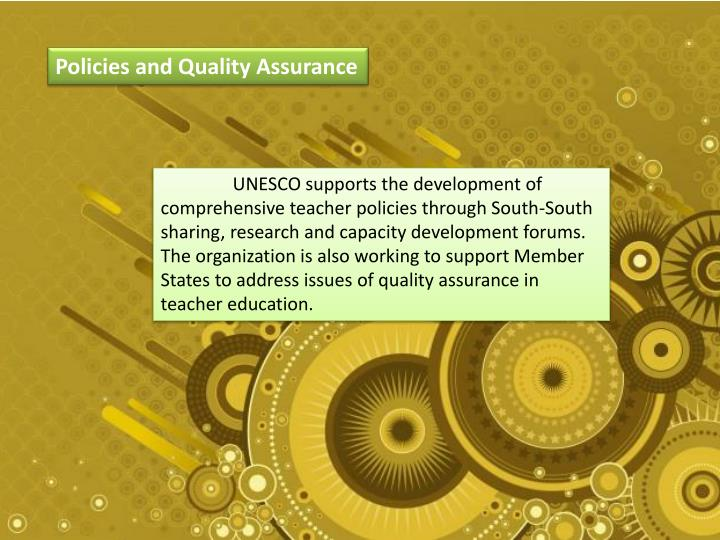 Policies and Quality Assurance