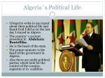 algeria s political life