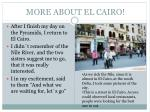 more about el cairo