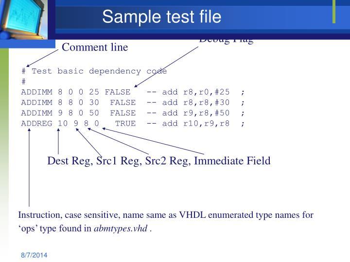 Sample test file