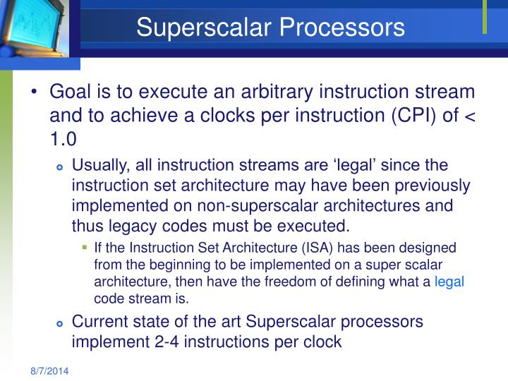 Superscalar processors1