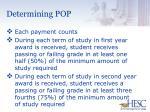 determining pop