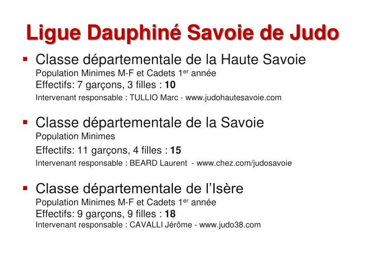 Ligue dauphin savoie de judo
