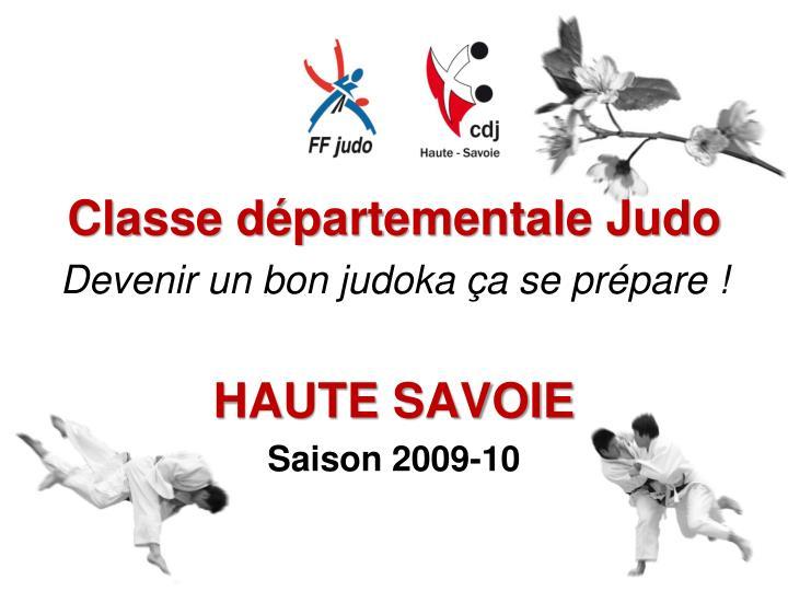 Classe départementale Judo