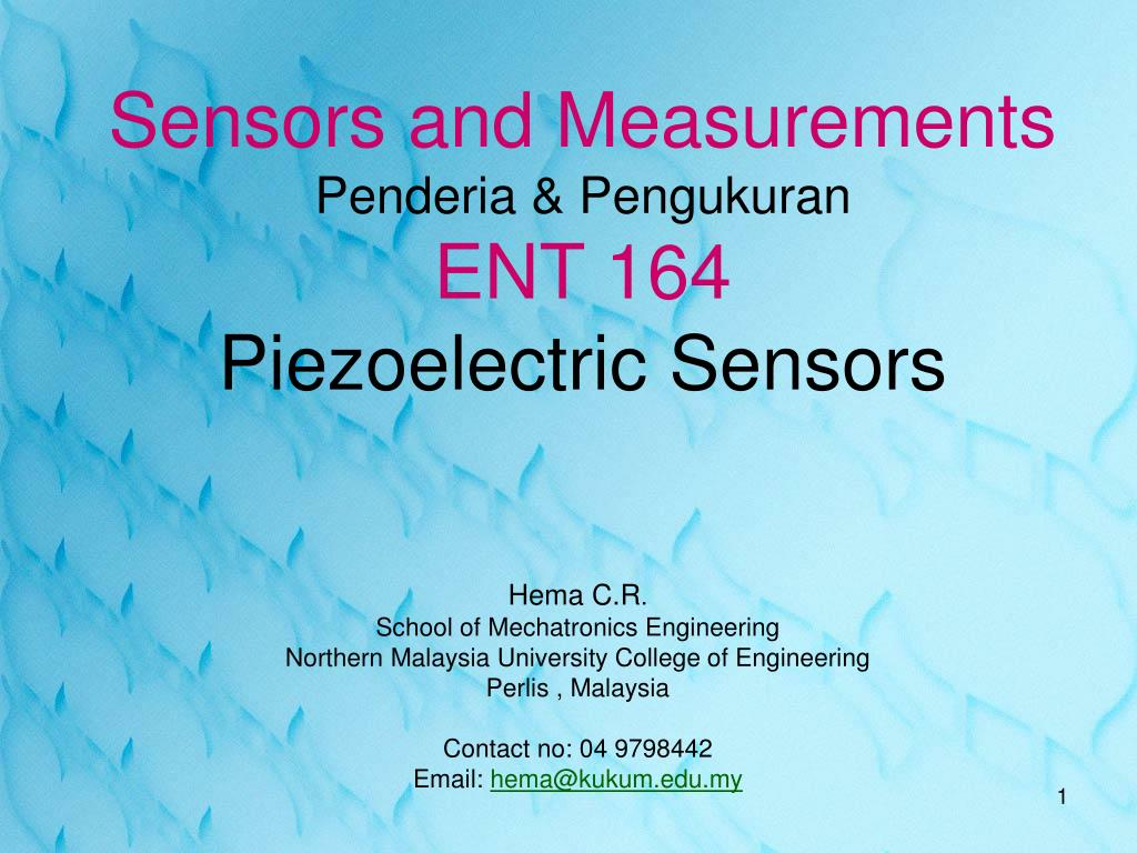 Ppt Sensors And Measurements Penderia Pengukuran Ent 164 Charge Amplifier Circuit For Measuring Strain With Piezoelectrics Piezoelectric N