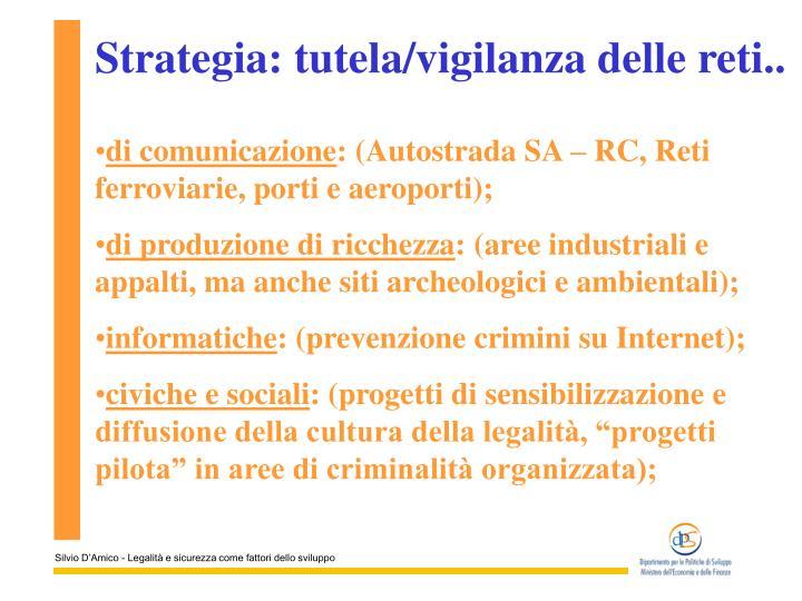 Strategia: tutela/vigilanza delle reti..