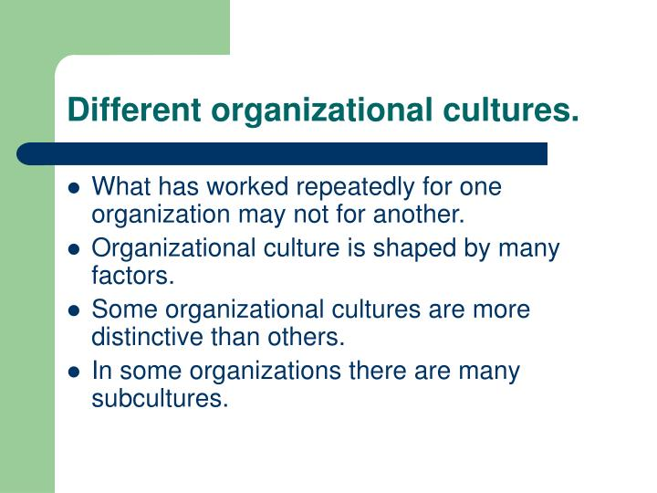 organizational culture can be one of Organizational culture consists of some aspects that are relatively more visible, as well as aspects that may lie below one's conscious awareness organizational culture can be thought of as consisting of three interrelated levels (schein, 1992.