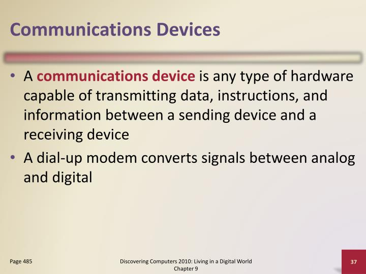 Communications Devices