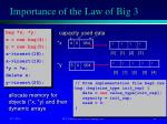 importance of the law of big 31