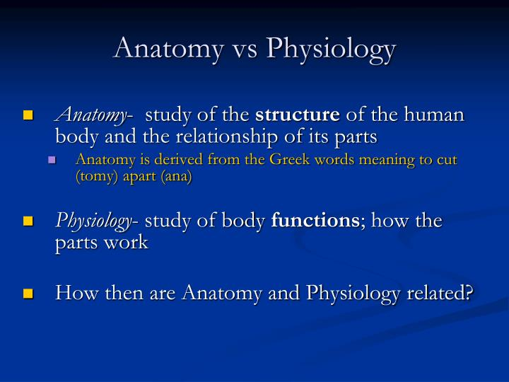 PPT - Introduction to Anatomy & Physiology PowerPoint ...