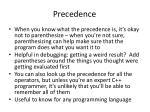 precedence1