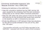 converting accelerated expansion and delayed reversion into a gwp 100