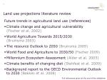 land use projections literature review1