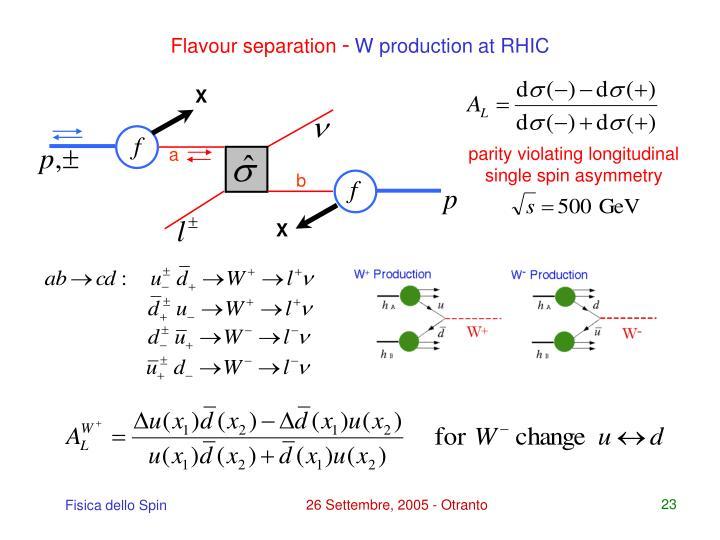 Flavour separation