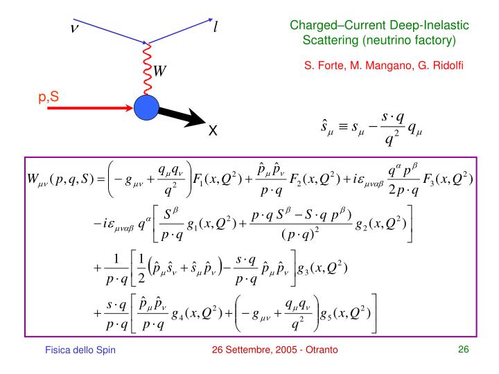 Charged–Current Deep-Inelastic Scattering (neutrino factory)