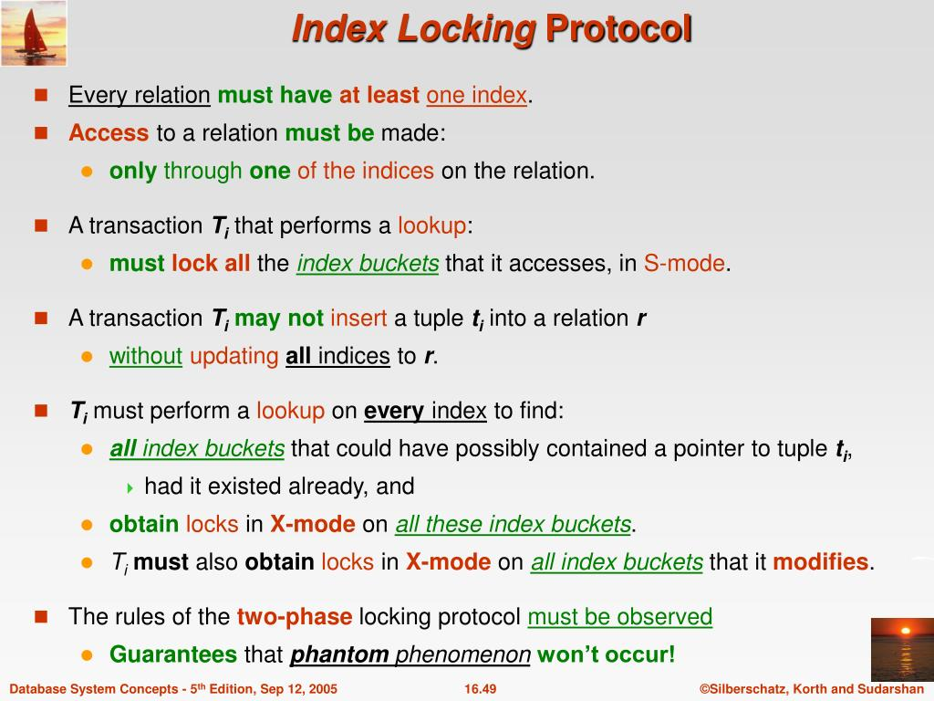 PPT - Chapter 16 : Concurrency Control PowerPoint Presentation - ID