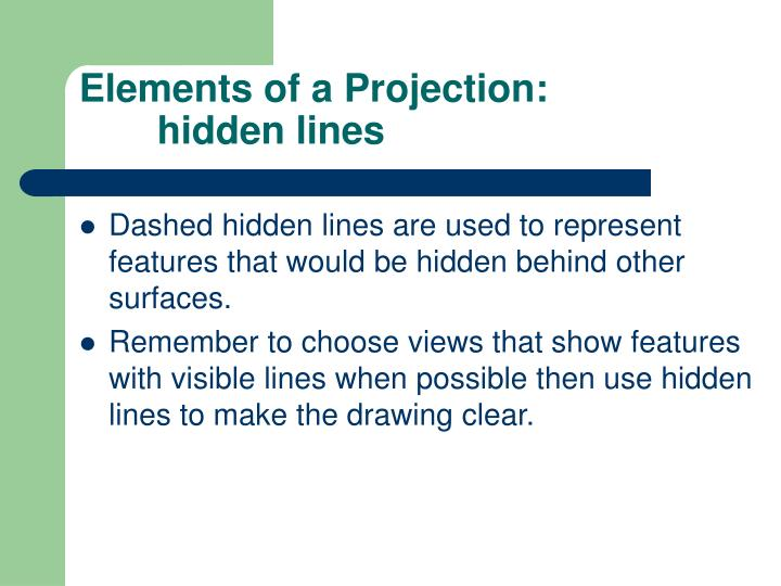 Elements of a Projection: