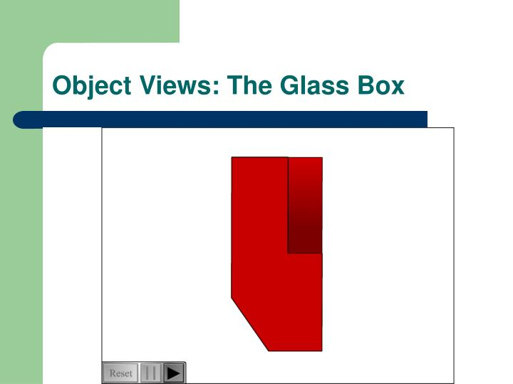 Object Views: The Glass Box