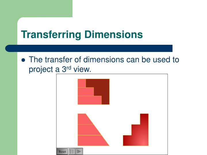Transferring Dimensions