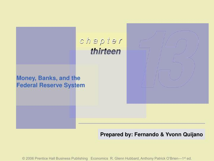 money banks and the federal reserve system n.