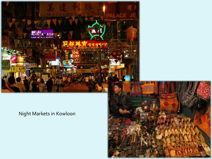 Night Markets in Kowloon