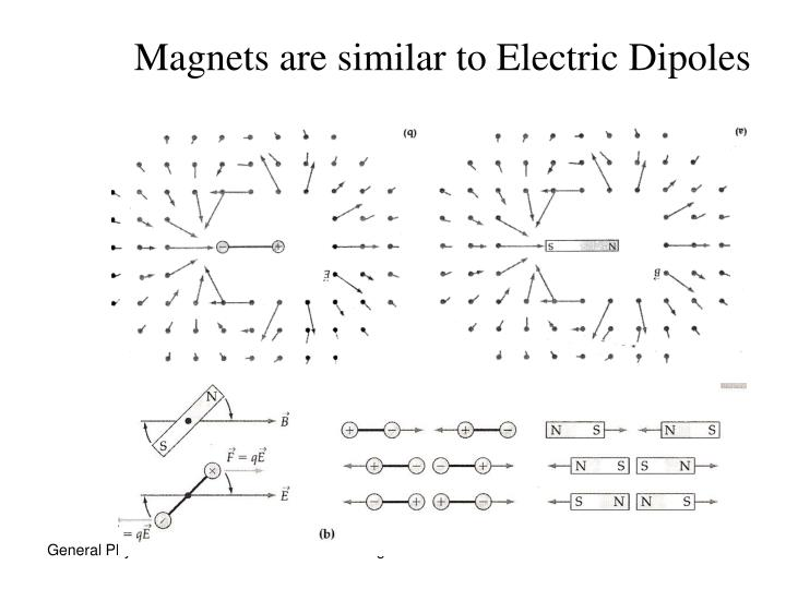 Magnets are similar to Electric Dipoles