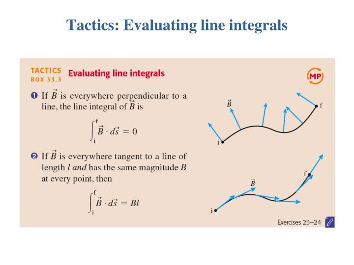 Tactics: Evaluating line integrals