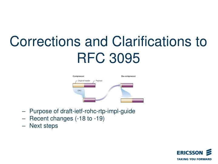 Corrections and clarifications to rfc 3095