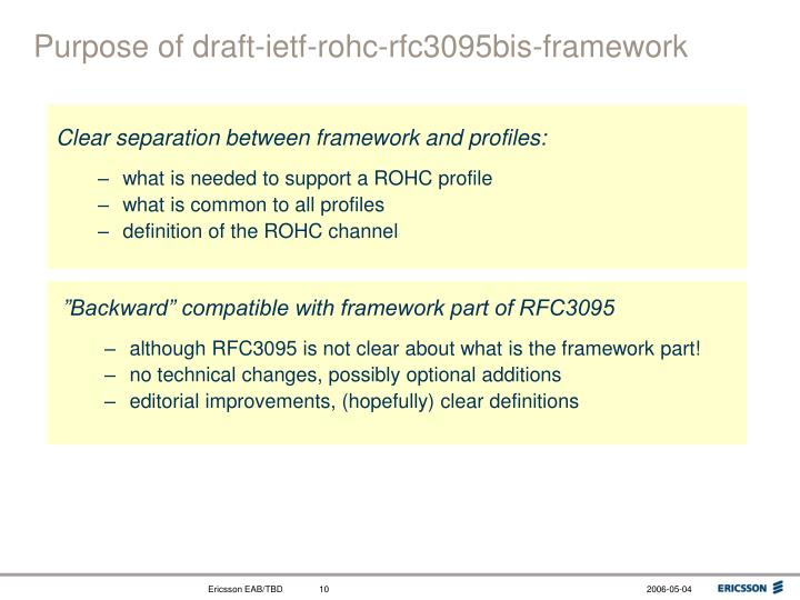Clear separation between framework and profiles: