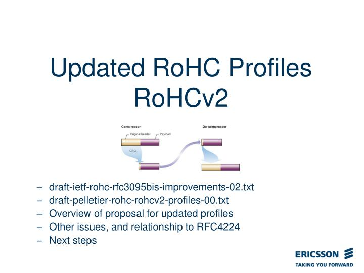 Updated RoHC Profiles RoHCv2