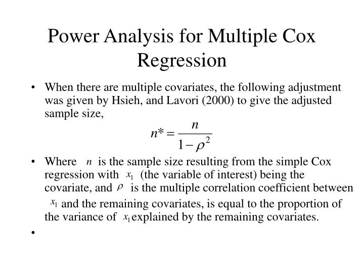 Power Analysis for Multiple Cox Regression