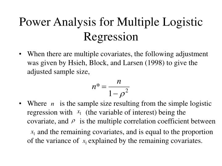 Power Analysis for Multiple Logistic Regression