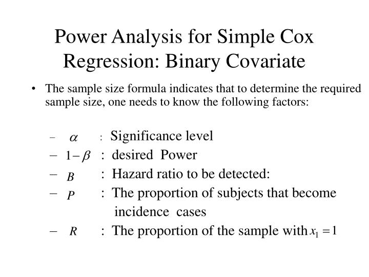 Power Analysis for Simple Cox Regression: Binary Covariate