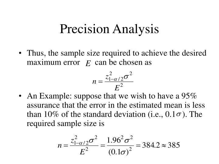 Precision Analysis