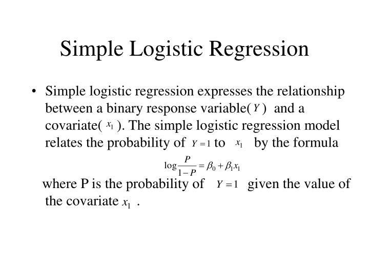 Simple Logistic Regression