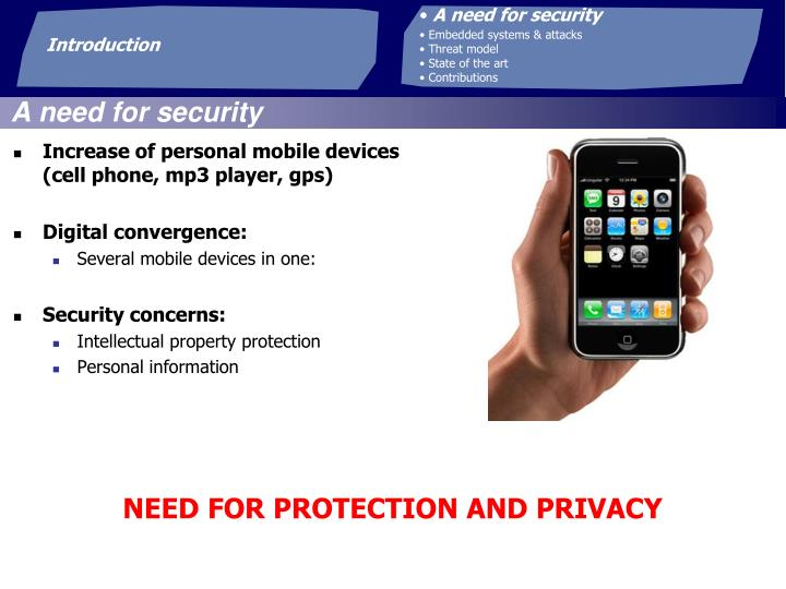 A need for security