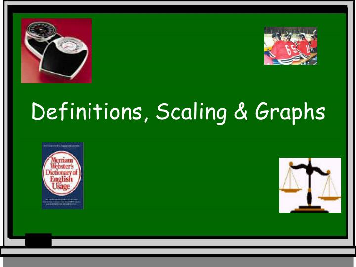 definitions scaling graphs n.