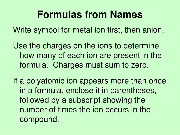 Ppt Chapter 8 Chemical Nomenclature Powerpoint Presentation Id