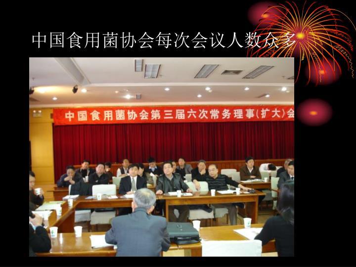 中国食用菌协会每次会议人数众多