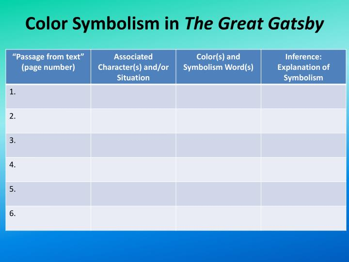 Ppt Color Symbolism Directions Brainstorm A List Of Connotative